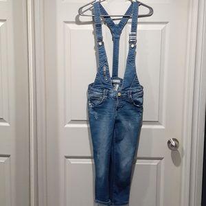 Dromedar blue denim overalls
